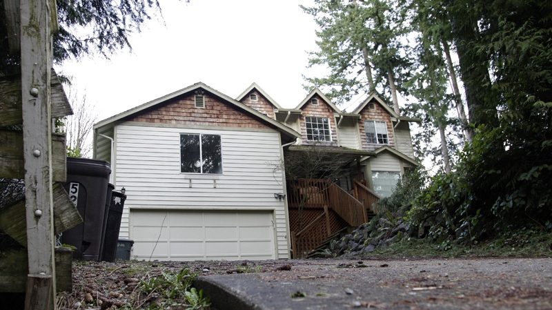 The home of U.S. Army Staff Sgt. Robert Bales, who is accused of killing 16 Afghan civilians, is shown, Friday, March 16, 2012, in Lake Tapps, Wash. (AP Photo/Ted S. Warren)