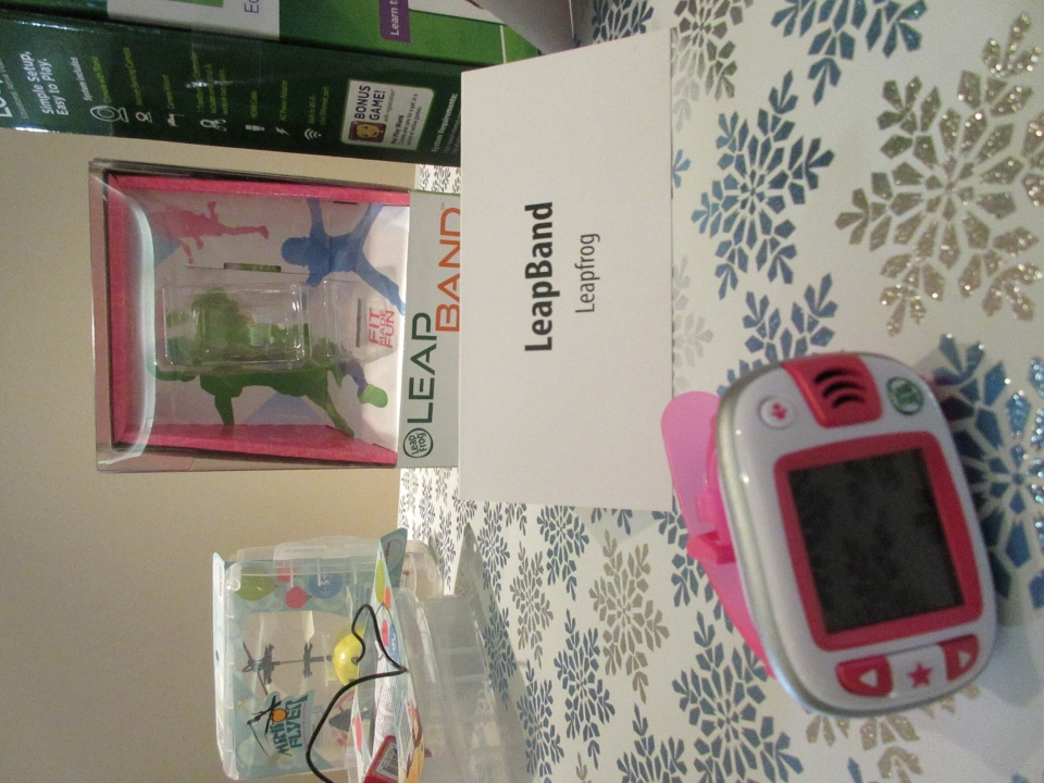 The LeapBand, by LeapFrog, is a kid-friendly 'smartwatch' that tracks activity levels. (Angela Mulholland / CTVNews.ca)