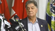 Mayor of London Joe Fontana speaks to the media in London, Ont. on Sunday, March 18, 2012.
