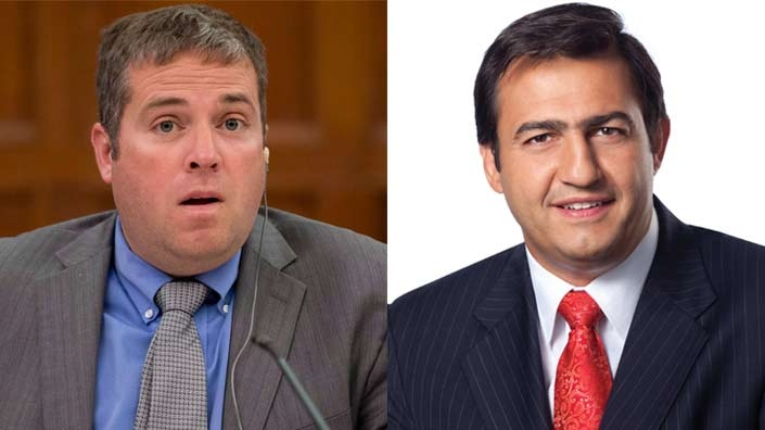 Liberal MP Scott Andrews, left, Liberal MP Massimo Pacetti, right, are seen in this composite photo. (Adrian Wyld / THE CANADIAN PRESS, Parliament of Canada)
