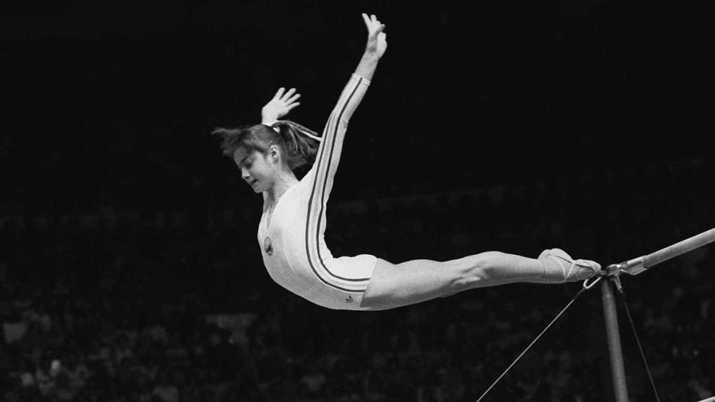 Nadia Comaneci at the 1976 Summer Olympics