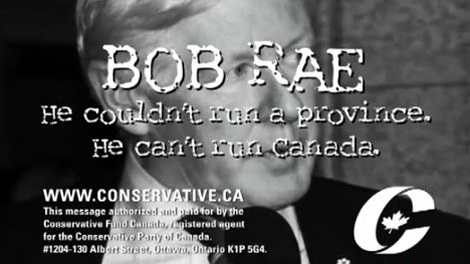 The federal Conservatives have released a new attack ad against Interim Liberal leader Bob Rae.