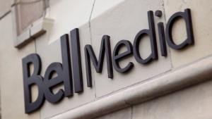 Logo for BCE-owned Bell Media on a Toronto building. (THE CANADIAN PRESS / Bell Media - Darren Goldstein)