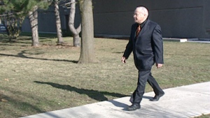 Arlan Galbraith of Pigeon King International Inc. leaves the courthouse in Kitchener, Ont. on Monday, March 19, 2012.