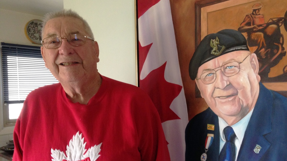 Second World War veteran Harry Watts says taking two minutes for a national moment of silence and reflection would be a better idea than making Remembrance Day a statutory holiday. (Frank Lynn / CTV Kitchener)