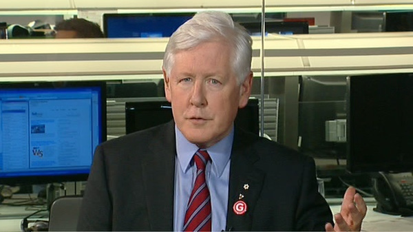 Liberal Interim Leader Bob Rae appears on CTV's Power Play on Monday, March 19, 2012.