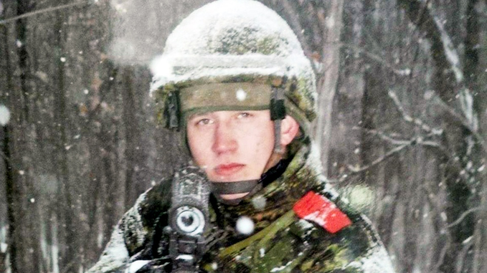 Pte. Steven Allen, 20, of Victoria, is seen in this undated photo. Allen died on Thursday, Nov. 6, 2014 after sustaining injuries in a training accident. (Steven Allen / Facebook)