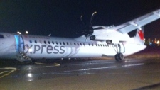 Air Canada plane was forced to land at Edmonton In