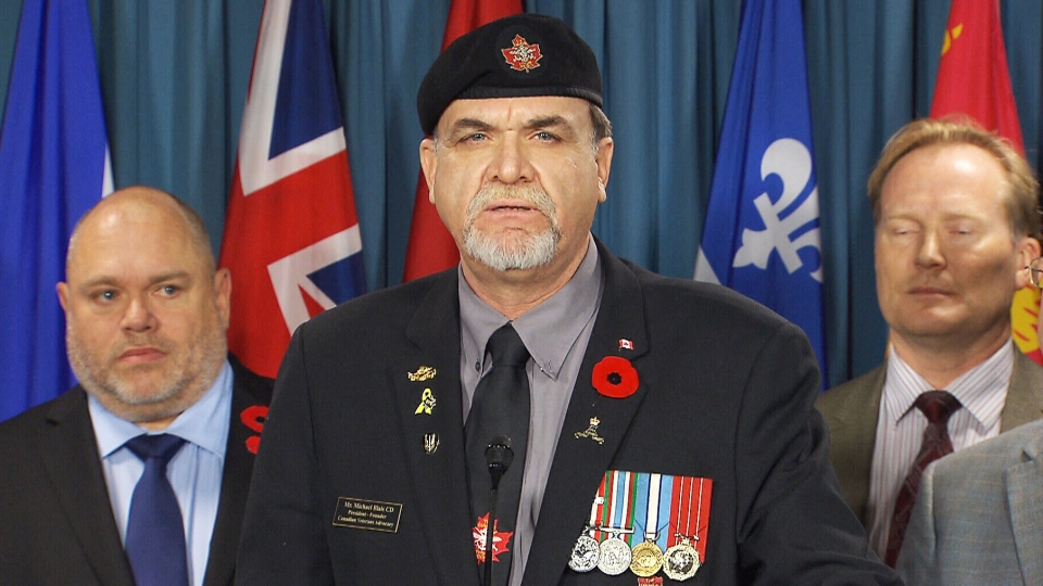 A newly formed coalition of veterans' groups says it will boycott all government photo-ops and participation in news releases until Ottawa improves its treatment of veterans on Thursday, Nov. 6, 2014.