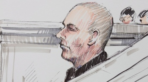 Court artist's sketch shows Graham James during his sentencing hearing in Winnipeg, Tuesday, March 20, 2012. (Tom Andrich / THE CANADIAN PRESS)
