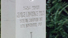 The tombstone of Private George Lawrence Price