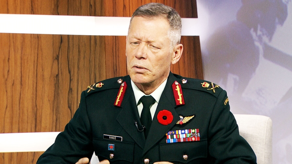 Lt-Gen. Jonathan Vance appears on CTV's Question Period with Laurie Graham on Sunday, Nov. 9, 2014.