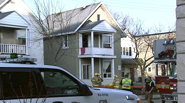 A fire broke out in this home on Rochester Street on March 21, 2012.