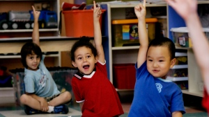 Children at a daycare centre in Montreal on Aug. 18, 2006. (THE CANADIAN PRESS / Ian Barrett)
