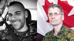 Cpl. Nathan Cirillo, left, and Patrice Vincent, right, are shown in undated photos. (Facebook, Department of National Defence)