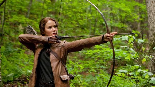 Jennifer Lawrence portrays Katniss Everdeen in a scene from Alliance Films' 'The Hunger Games.'