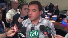 Toronto city councillor Giorgio Mammoliti speaks to the media, Wednesday, March 21, 2012.