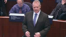 Toronto city Coun. Doug Ford speaks during debate in council chambers at city hall, Thursday, March 22, 2012.