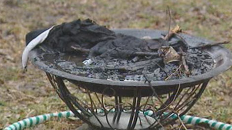 A father and daughter were both sent to hospital Wednesday night in after a fire-pit explosion in St. Boniface.