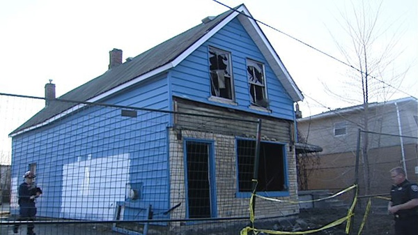 Police say an overnight fire on Booth Street was set deliberately March 22, 2012.