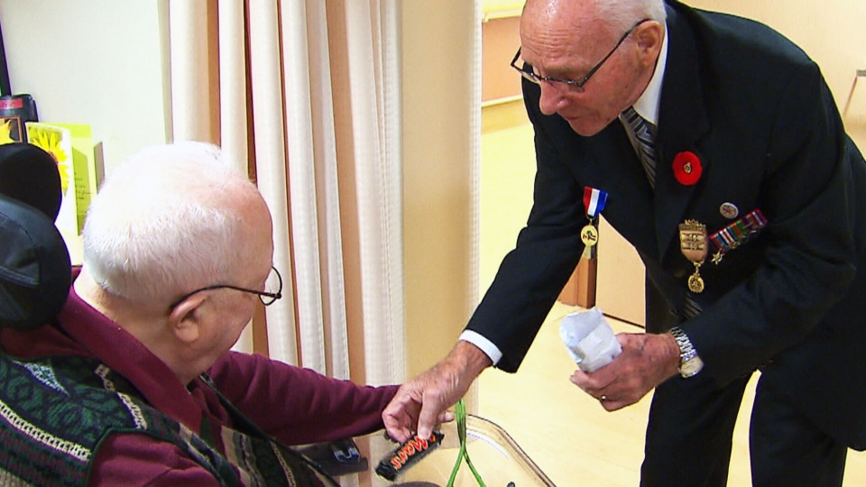 George Emmerson meets with Henk Metselaar in Oshawa, Ont.