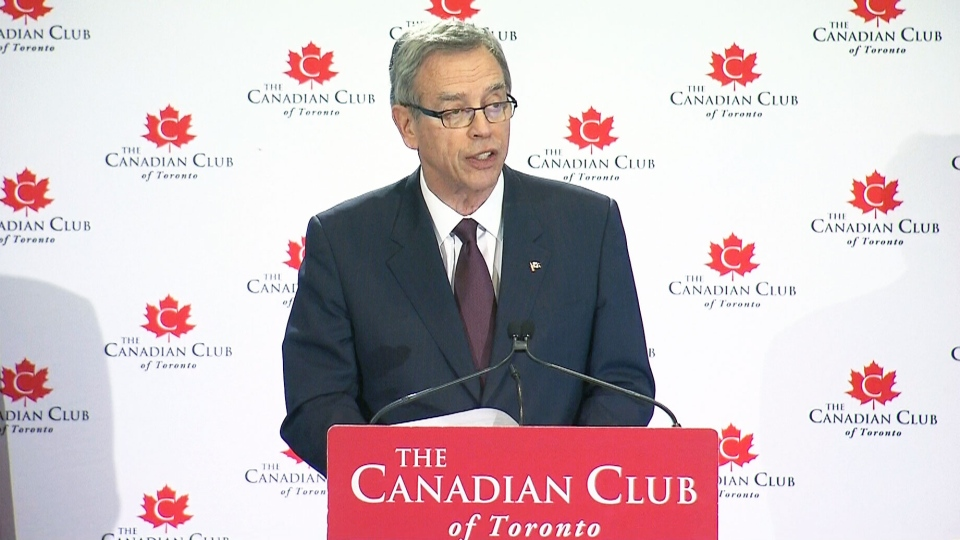 Minister of Finance Joe Oliver delivers the Fall Economic Update in Toronto Wednesday, Nov. 12, 2014.