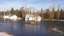 bathurst, flooding, ice floe, middle river