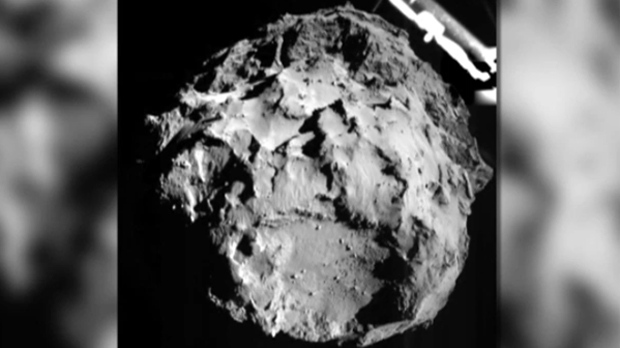 European Space Agency's photo of comet P67