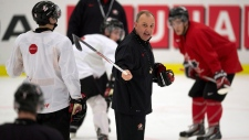 Brent Sutter coaches Team Canada