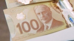 A $100 bill is shown in Toronto on Monday, Nov. 14, 2011. (Nathan Denette / THE CANADIAN PRESS)