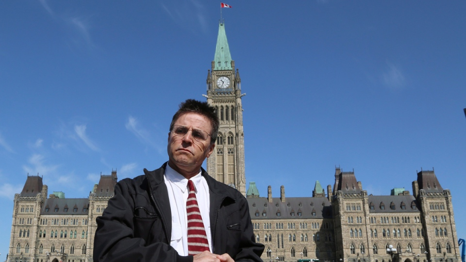 Hassan Diab on Parliament Hill in Ottawa,  on April 13, 2012. (THE CANADIAN PRESS / Patrick Doyle)