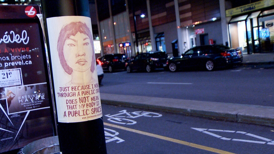A new poster campaign in Montreal is trying to raise awareness about gender-based street harassment.