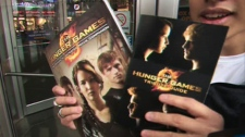 Hunger games fans flocked to the opening in Toronto on Friday, March 23, 2012.