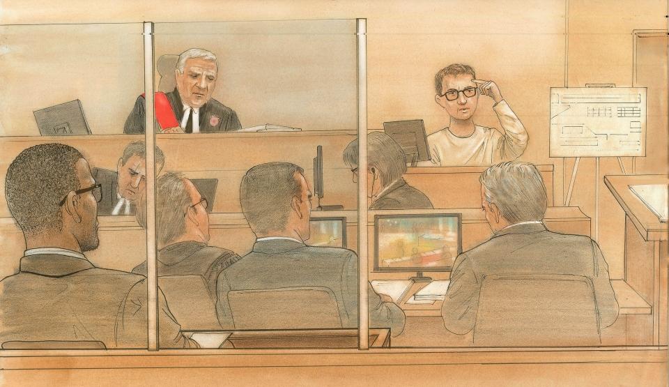 Connor Stevenson is shown in court on Thursday, Nov. 13, 2014. (John Mantha/CTV News)