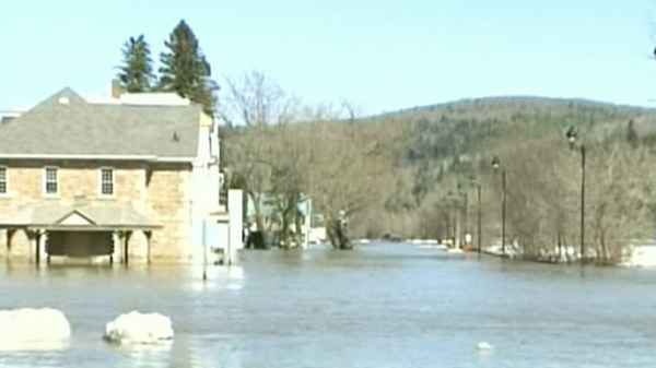 A state of emergency remained in place as flooding along portions of the St. John River in New Brunswick forced the evacuation of properties in the village of Perth-Andover on Saturday, March 24, 2012.