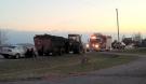 Lambton OPP released this photo of the scene of a fatal crash on Petrolia Line on Friday, Nov. 14, 2014.