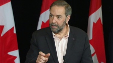 NDP Leader Thomas Mulcair addresses the media at a press conference in Toronto on Sunday, March 25, 2012.