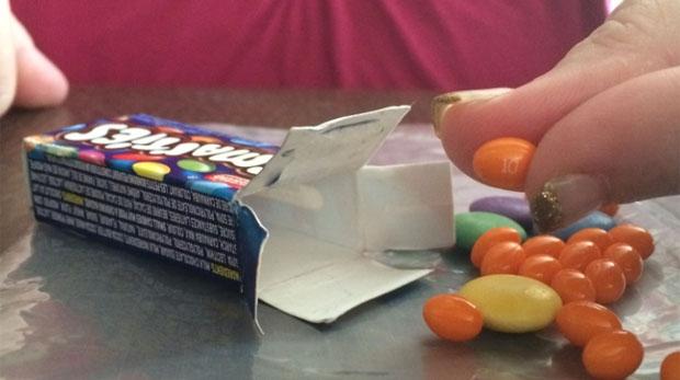 Inside the box were 17 prescription pills.