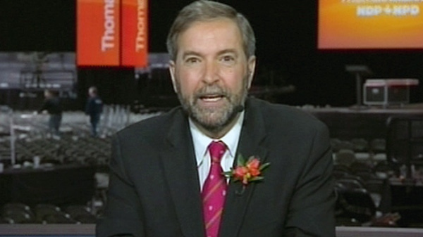 NDP Leader Thomas Mulcair appears on CTV's Question Period on Sunday, March 25, 2012.