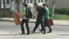 A Barrie school has been found to use foam blockers to control special-needs students, on Monday, March 26, 2012.