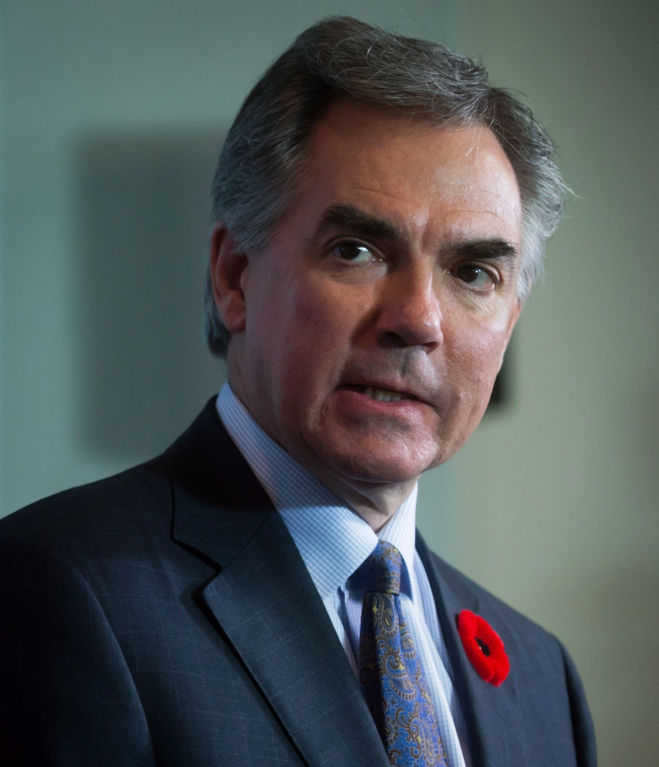 Alberta Premier Jim Prentice during a news conference after a meeting in Vancouver, B.C., on Monday November 3, 2014. (Darryl Dyck/THE CANADIAN PRESS)
