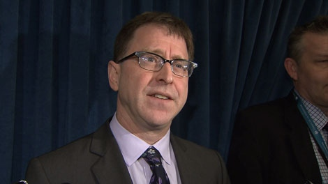 NDP opposition leader Adrian Dix answers questions about being nearly-ticketed on the SkyTrain. March 26,2012. (CTV)