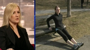 Catherine Sabiston says it's easy to incorporate park equipment into your outdoor workout (March 26, 2012)