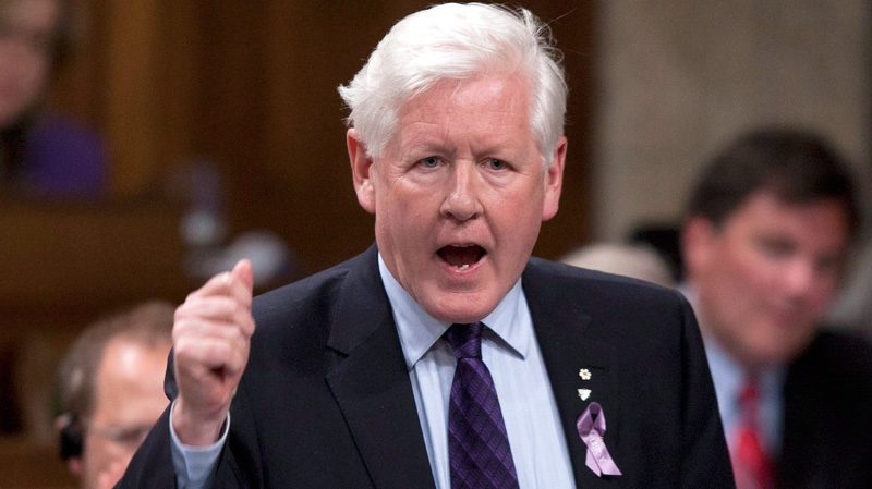 Interim Liberal leader Bob Rae rises during question period in the House of Commons in Ottawa, Monday, March 26, 2012. (Adrian Wyld / THE CANADIAN PRESS)