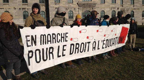 Students say they will continue to protest until the government finally gives in (March 27, 2012, CTV Montreal/Jean-Luc Boulch)