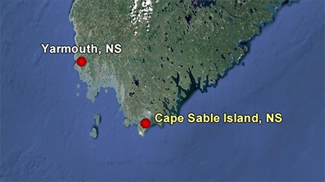 One person is dead and two injured after a yacht broke down Monday night off Nova Scotia's southwest coast.