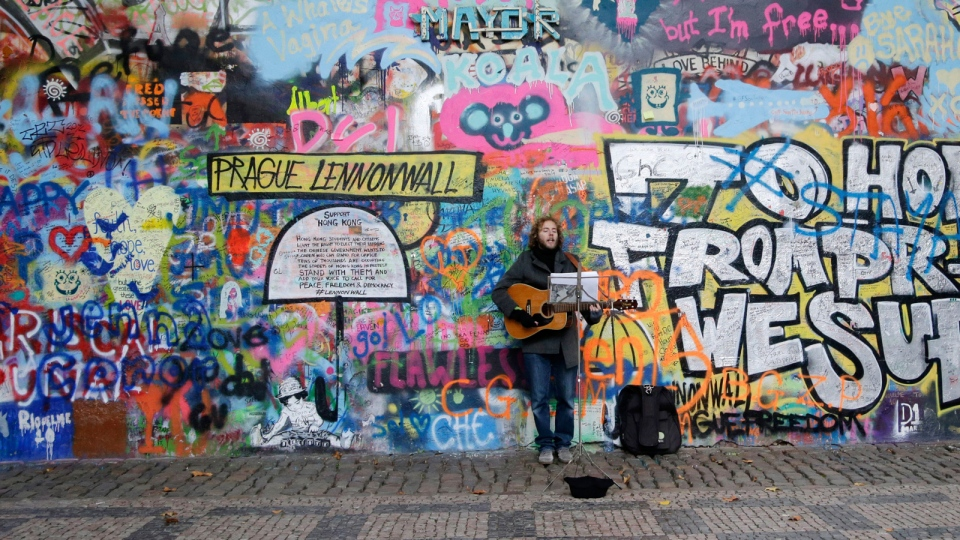 Prague Lennon Wall Painted White