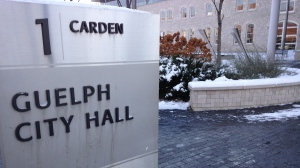 Guelph City Hall is pictured on Tuesday, Nov. 18, 2014. (Frank Lynn / CTV Kitchener)
