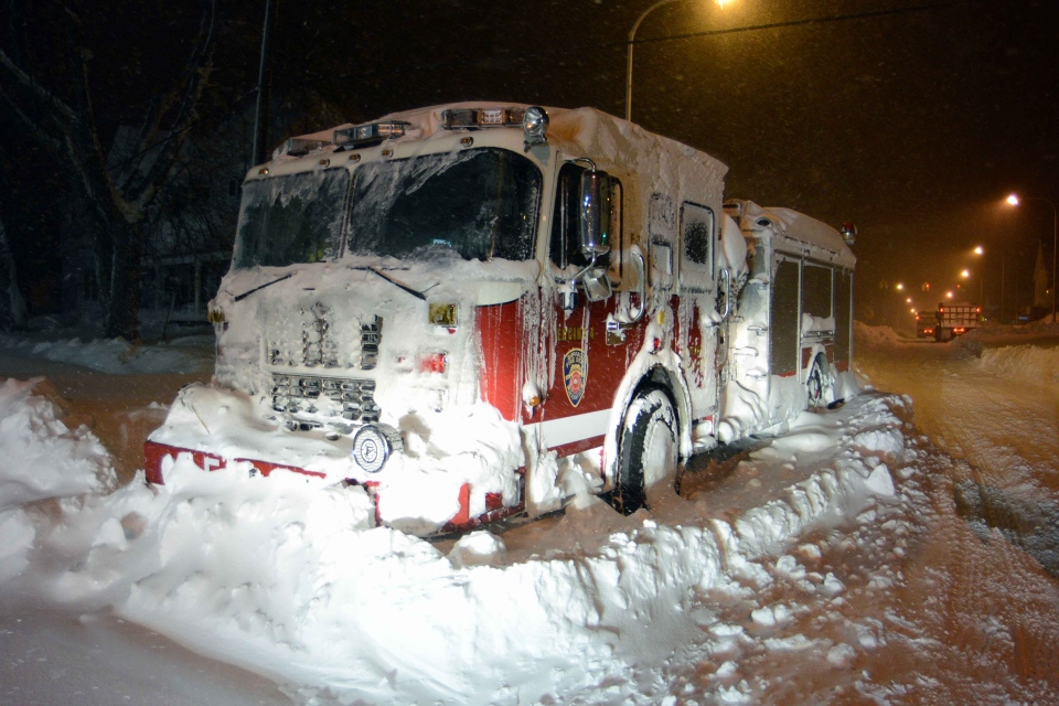 ferocious  early storm dumps massive piles of snow on