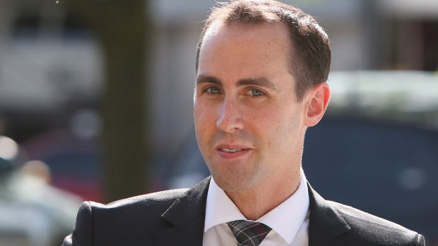 Michael Sona in Guelph, Ont., on June 4, 2014. (THE CANADIAN PRESS / Dave Chidley)